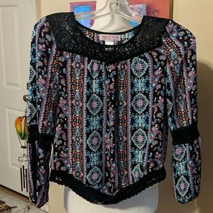 Band of gypsies women's size large peasant blouse